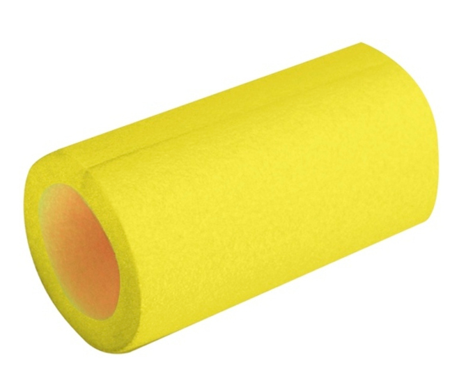 Scaffold Trampoline Tube Padding Yellow Foam 2m Long 48mm Bore