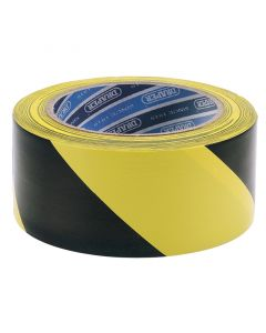 Black and Yellow Hazard Tape 33m x 50mm