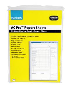 AC Pro 80028 Air Conditioning Breakdown Report Pad