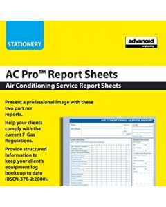 Air Conditioning Service Report Pad AC Pro
