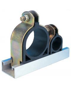 6mm 1/4 inch Pipe Channel Clip Cushion Clamp 10 Pack