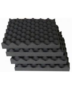 Plain Convoluted Eggbox Style Foam Soundproof Sheet 12 Pack
