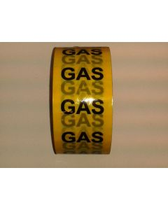 Gas Pipe identification self adhesive tape for marking and labelling pipework