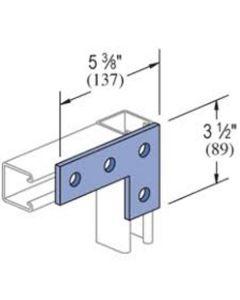 Steel 1 x 3 Hole Flat L Bracket Pre-Galvanised