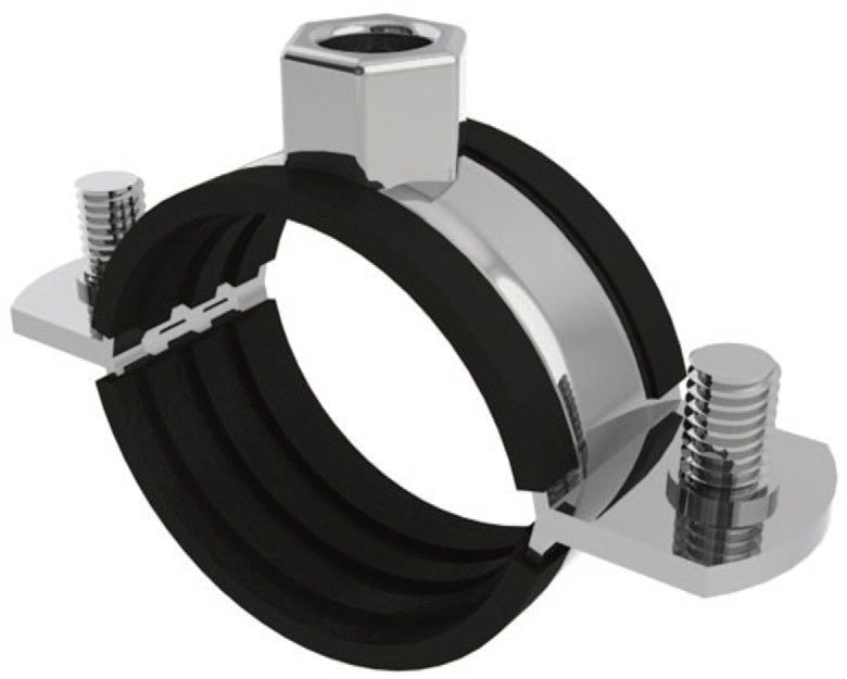 NOR-RSGUU-13 13MM OD PIPE CLIP U M//STEEL 15MM BAND Norma Clips Clamps /& Plasti