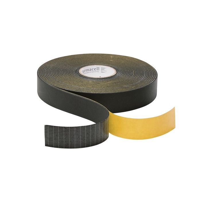 Armaflex Pipe Insulation Lagging Tape 50mm x 3mm x 15m Black Foam Class O